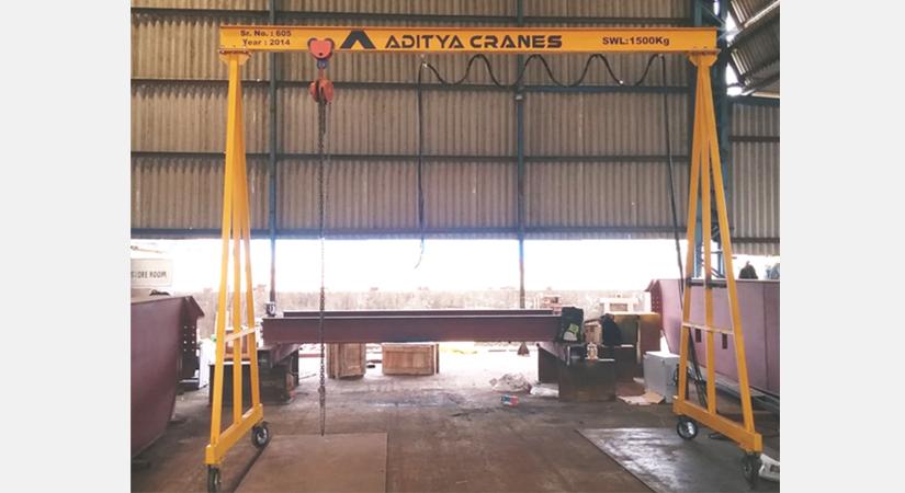 Gantry Crane Portable Gantry Cranes Wire Rope Hoists Transfer