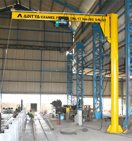 Pillar Mounted ( Free Standing ) Jib Crane Manufacturer and Supplier