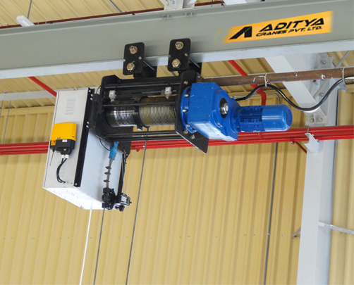 Wire Rope Hoists, Electric Wire Rope Hoist, Spur / Helical Gearbox ...
