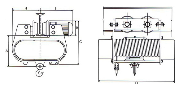 wire rope hoists  electric wire rope hoist  spur    helical
